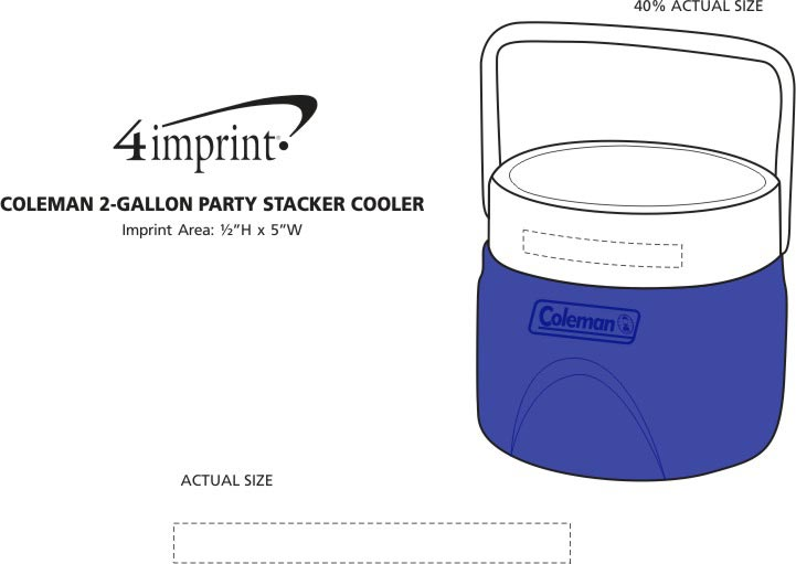 Imprint Area of Coleman 2-Gallon Party Stacker Cooler