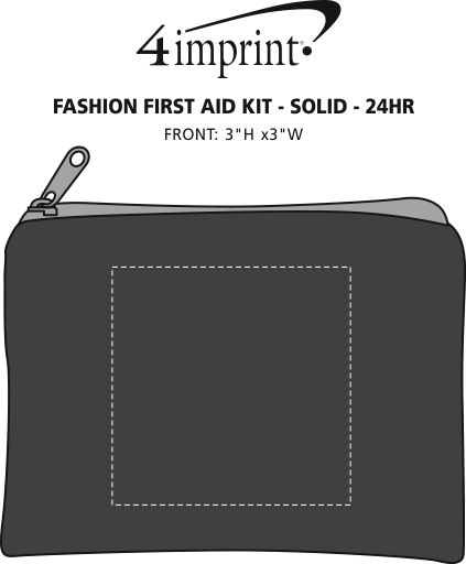 Imprint Area of Fashion First Aid Kit - Solid - 24 hr