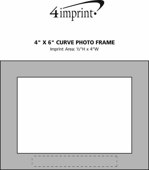"Imprint Area of 4"" x 6"" Curve Photo Frame"