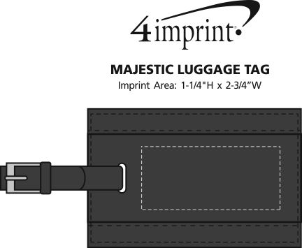 Imprint Area of Majestic Luggage Tag