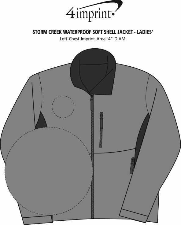 Imprint Area of Storm Creek Waterproof Soft Shell Jacket - Ladies'
