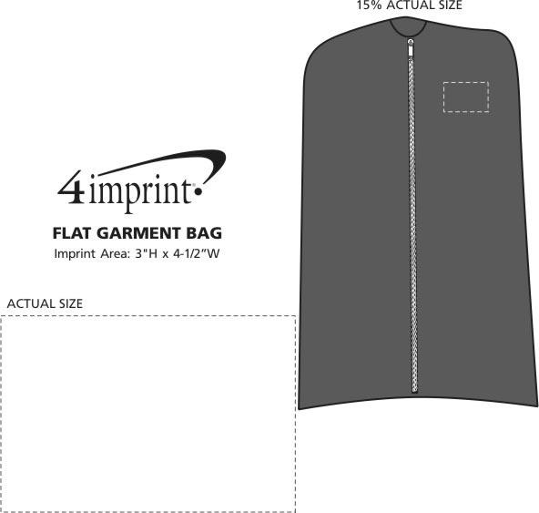 Imprint Area of Flat Garment Bag