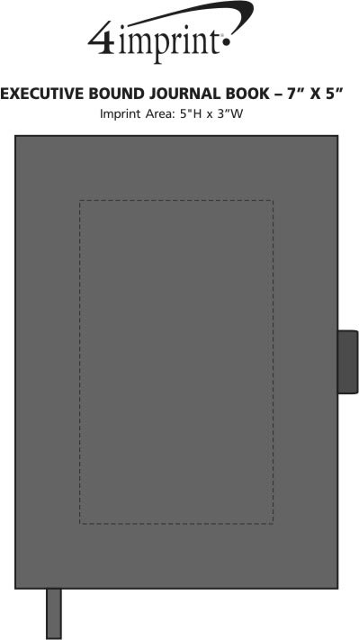 "Imprint Area of Executive Bound Journal Book - 7"" x 5"""