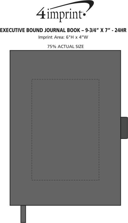"Imprint Area of Executive Bound Journal Book - 9-3/4"" x 7"" - 24 hr"