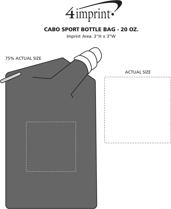 Imprint Area of Cabo Sport Bottle Bag - 20 oz. - Translucent