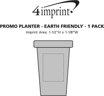 Imprint Area of Promo Planter - Earth Friendly - 1 Pack