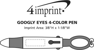 Imprint Area of Googly Eyes 4-Color Pen