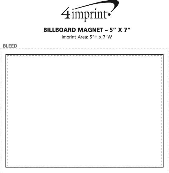 "Imprint Area of Billboard Magnet - 20 mil - 5"" x 7"""