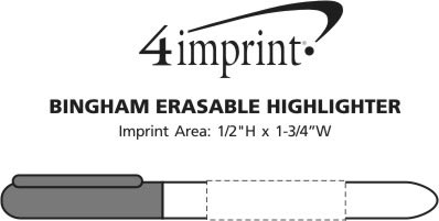 Imprint Area of Bingham Erasable Highlighter