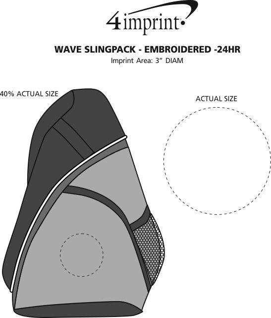 Imprint Area of Wave Slingpack - Embroidered - 24 hr
