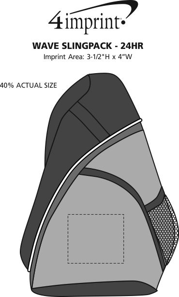 Imprint Area of Wave Slingpack - Screen - 24 hr