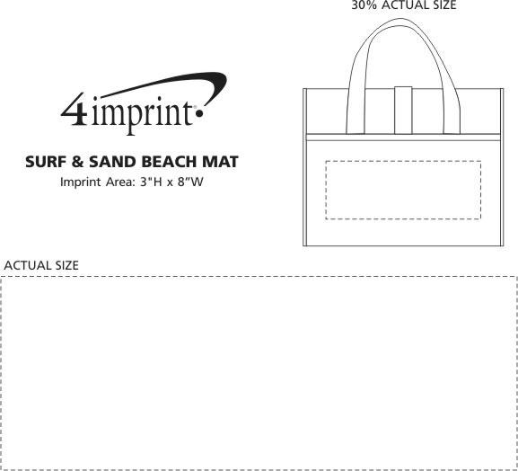 Imprint Area of Surf & Sand Beach Mat