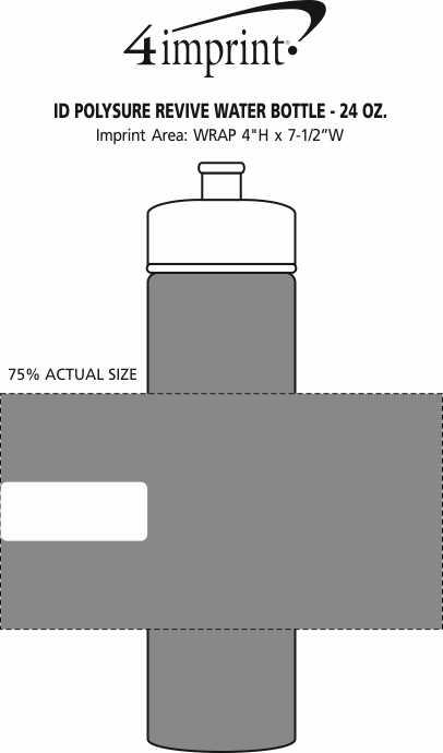 Imprint Area of PolySure Revive Water Bottle - 24 oz. - ID