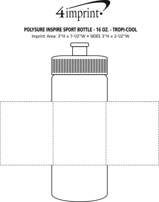 Imprint Area of PolySure Inspire Water Bottle - 16 oz.