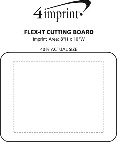 Imprint Area of Flex-It Cutting Board