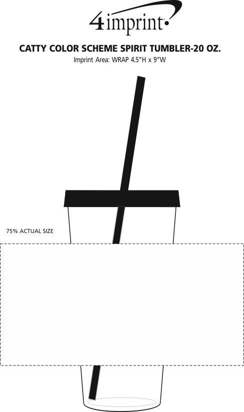 Imprint Area of Color Scheme Spirit Tumbler - 20 oz.