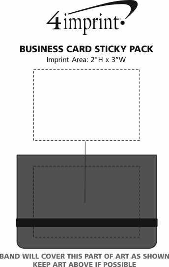 Imprint Area of Business Card Sticky Pack
