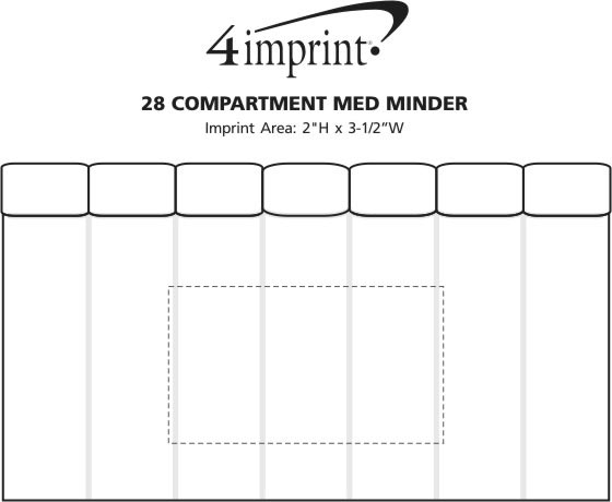 Imprint Area of 28 Compartment Med Minder