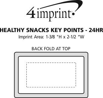 Imprint Area of Healthy Snacks Key Points - 24 hr