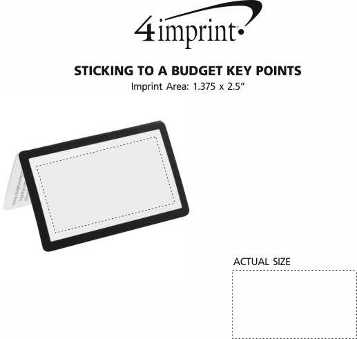Imprint Area of Sticking to a Budget Key Points