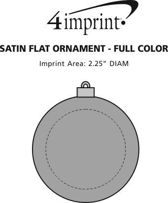 Imprint Area of Satin Flat Ornament - Full Color