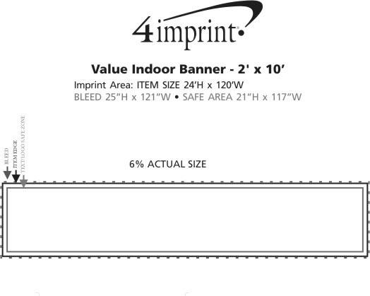 Imprint Area of Value Indoor Banner - 2' x 10'
