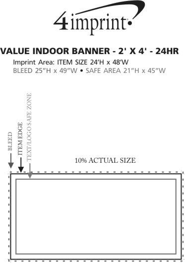 Imprint Area of Value Indoor Banner - 2' x 4' - 24 hr