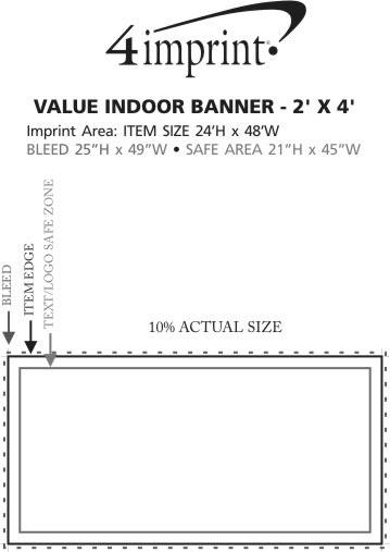 Imprint Area of Value Indoor Banner - 2' x 4'