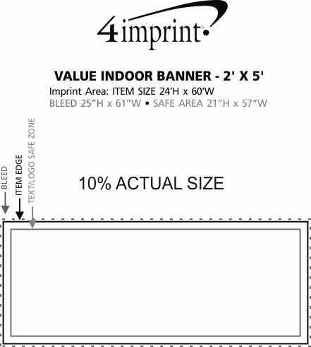 Imprint Area of Value Indoor Banner - 2' x 5'