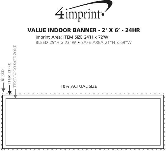 Imprint Area of Value Indoor Banner - 2' x 6' - 24 hr