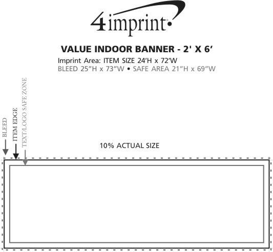 Imprint Area of Value Indoor Banner - 2' x 6'
