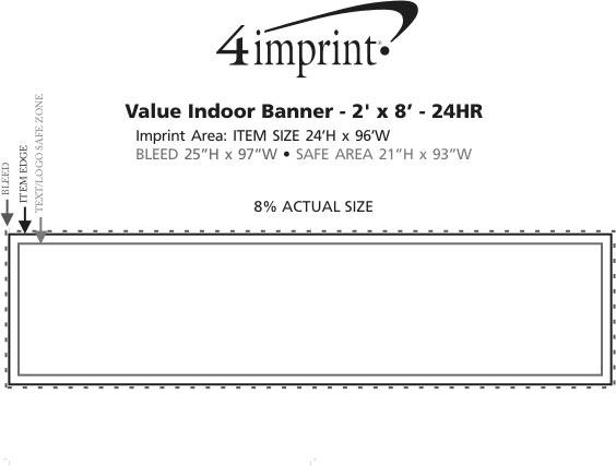 Imprint Area of Value Indoor Banner - 2' x 8' - 24 hr