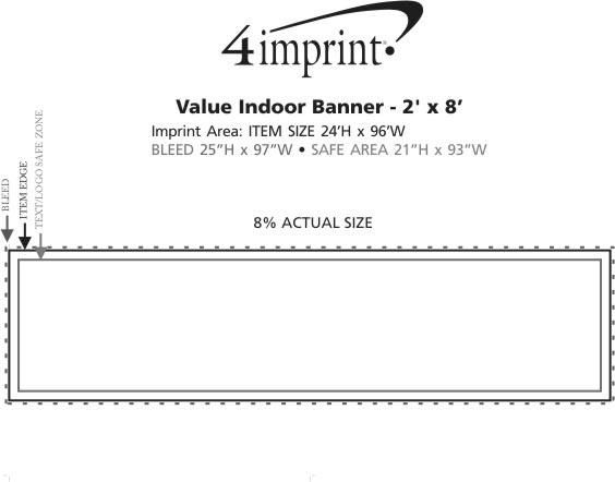 Imprint Area of Value Indoor Banner - 2' x 8'