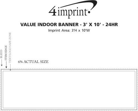 Imprint Area of Value Indoor Banner - 3' x 10' - 24 hr