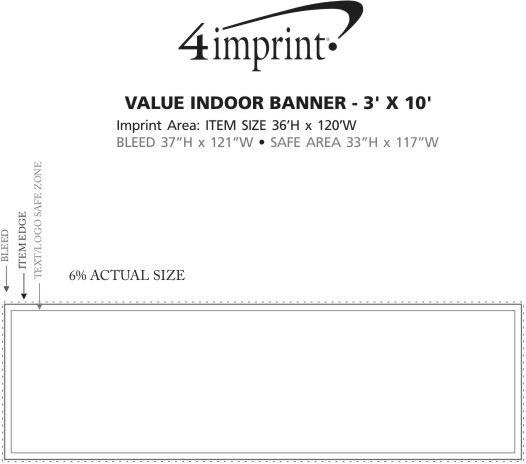 Imprint Area of Value Indoor Banner - 3' x 10'