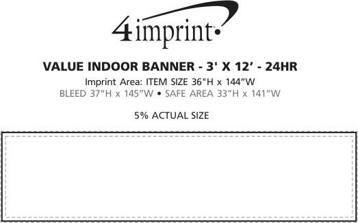Imprint Area of Value Indoor Banner - 3' x 12' - 24 hr