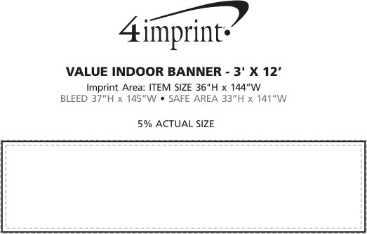 Imprint Area of Value Indoor Banner - 3' x 12'