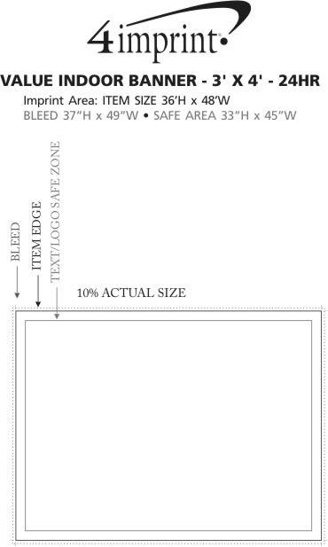 Imprint Area of Value Indoor Banner - 3' x 4' - 24 hr