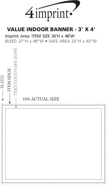 Imprint Area of Value Indoor Banner - 3' x 4'