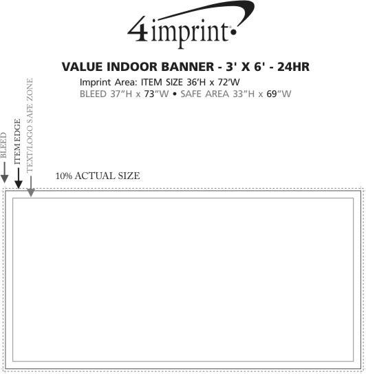 Imprint Area of Value Indoor Banner - 3' x 6' - 24 hr