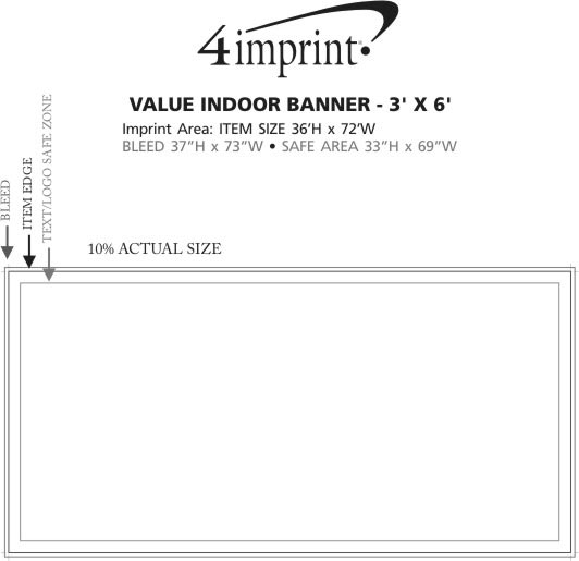 Imprint Area of Value Indoor Banner - 3' x 6'