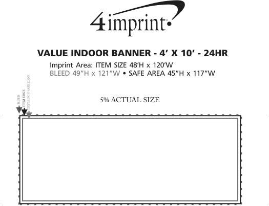 Imprint Area of Value Indoor Banner - 4' x 10' - 24 hr