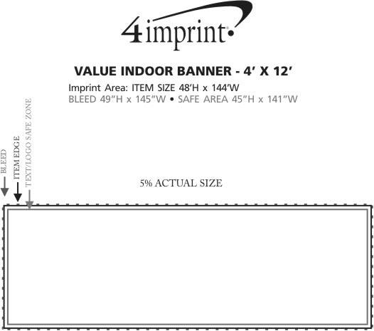 Imprint Area of Value Indoor Banner - 4' x 12'