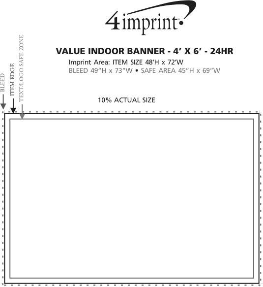 Imprint Area of Value Indoor Banner - 4' x 6' - 24 hr