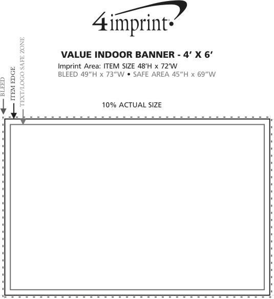 Imprint Area of Value Indoor Banner - 4' x 6'