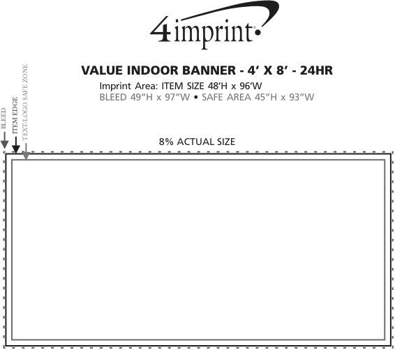 Imprint Area of Value Indoor Banner - 4' x 8' - 24 hr