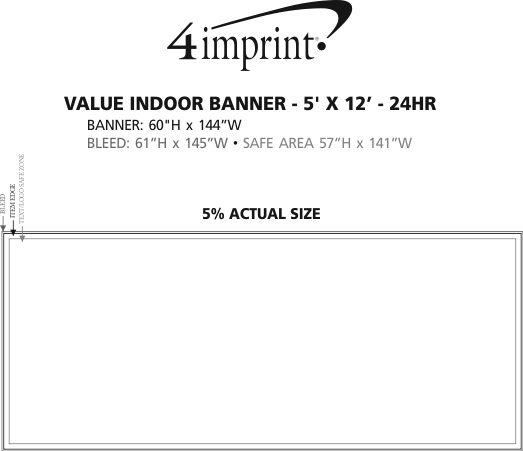 Imprint Area of Value Indoor Banner - 5' x 12' - 24 hr