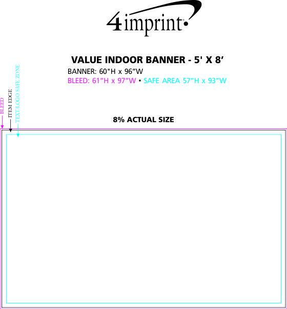 Imprint Area of Value Indoor Banner - 5' x 8'