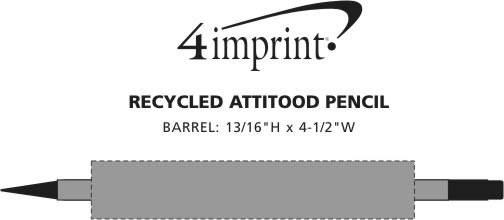 Imprint Area of Recycled Attitood Pencil