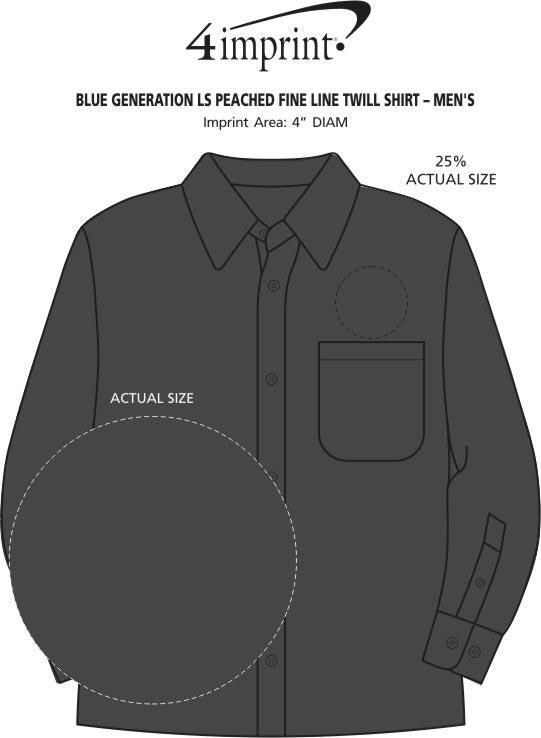 Imprint Area of Peached Fine Line Twill Shirt - Men's